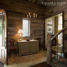 mountain house william t baker barn wood entry hall foyer