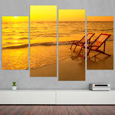 unique figure wall art for seting sun canvas picture seaside scenery home decor wall art oil