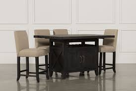 dining room furniture collection living spaces jaxon 5 piece extension counter set w fabric stools main