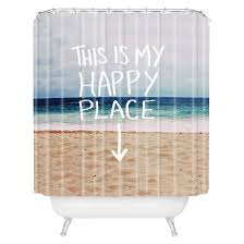 Deny Shower Curtains Happy Place Beach Shower Curtain Blue Deny Designs Target