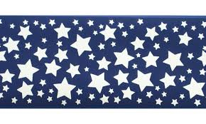 Chair Rail Wallpaper Border - blue stars wallpaper border