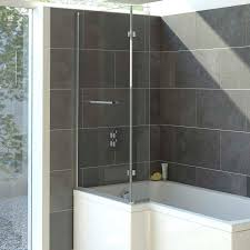 solarna l shaped shower bath screen 850mm x 1400mm