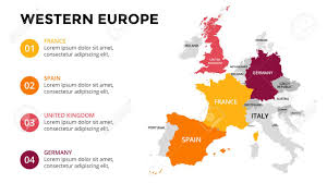 europe map by country western europe map infographic slide presentation global