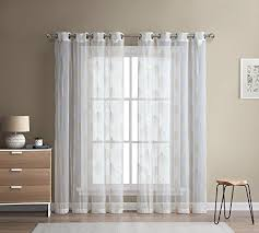 embroidered sheer curtains amazon com