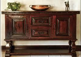 Solid Wood Buffet Table Mancini Rustic Hacienda Style Dining Room Furniture