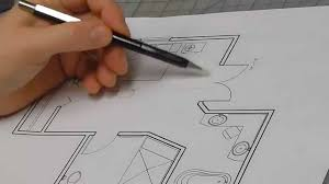 Interior House Drawing How To Draw An Architectural Interior Elevation Youtube