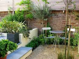 Small Walled Garden Ideas Lawn Garden Simple Garden Idea With Brick Walls Also