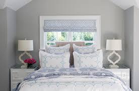 Bedroom Bed In Front Of Window Saugatuck Shores U2014 Sam Allen Interiors