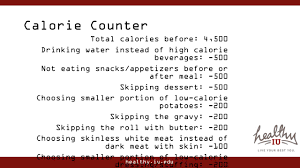 thanksgiving calorie calculator healthy holiday meal makeover ppt download