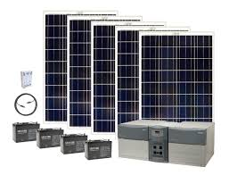 120 volt solar power generator kits earthtech products