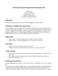 engineering resume exles internship best chemical engineering resume sales engineering lewesmr