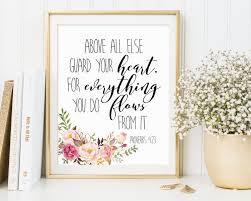 Christian Home Decor Wall Art Proverbs 4 23 Above All Else Guard Your Heart Bible Verse