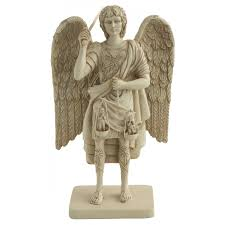 archangel michael with scales of justice statue christian art