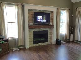 our new fireplace real stone beams old barn beam mantel t