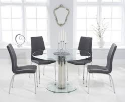 sofia 120cm round glass dining table with cavello chairs the