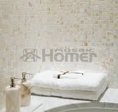 Pearl Tile Backsplash by Aliexpress Com Buy White Bathroom Mosaic Tiles Mother Of Pearl
