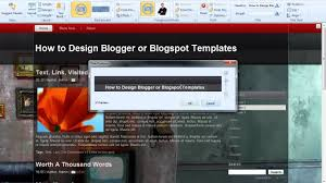 Design Blogger by How To Design Blogger Templates Or Blogspot Templates With