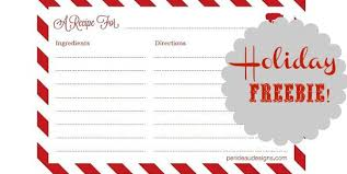 free printable recipe cards celebrations at home