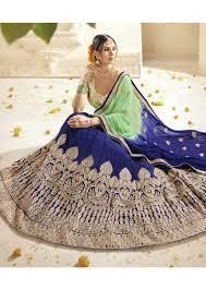 Buy Violet Embroidered Art Silk Blue Colored Embroidered Art Silk Wedding Lehenga Choli 1310