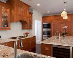 cherry cabinet with granite houzz