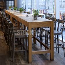 High Bar Table Ludvig Solid Oak Wood High Console Table Bar Table Dta451 Hk