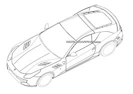 car ferrari drawing 2015 ferrari california replacement patent drawings leaked