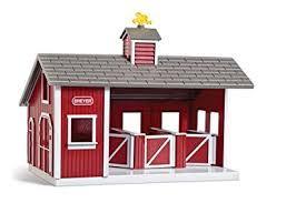 amazon com breyer stablemates red stable and horse set breyer