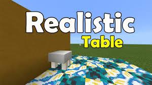 Minecraft Furniture Ideas Pe Realistic Table No Mod No Addon No Commands Minecraft Pe