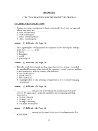 principles of marketing chapter 2 strategic management marketing