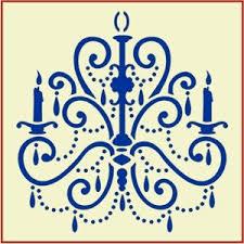 Chandelier Stencils French Stencils For Furniture The Artful Stencil