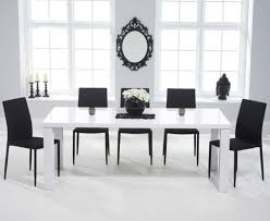 Dining Room Furniture Atlanta by Atlanta 180cm White High Gloss Dining Table With Atlanta Stackable