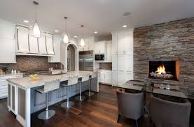 Stacked Stone Kitchen Backsplash Kitchen Dark Leather Kitchen Stools With Portable Kitchen Island