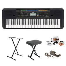 On Stage Keyboard Bench Yamaha Psr E253 61 Key Portable Keyboard Value Pack With Skb2