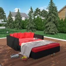 amazon com lexmod palisades 4 piece outdoor wicker patio
