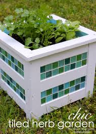 herb garden planter box chic tiled herb garden the homes i have made