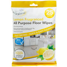 all purpose floor wipes 25pk lemon household cleaners b m