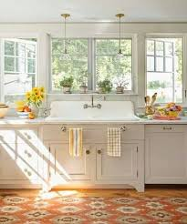 Kitchen Sink With Cabinet Giant Farmhouse Sink With This Much Lighting And Counter Space