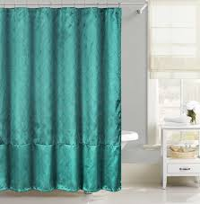 Cloth Shower Curtains Teal Faux Silk Fabric Shower Curtain Silver Raised Pin Dot Fish