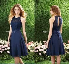 marine bridesmaid dresses navy blue bridesmaid dress halter high neck cutout back lace