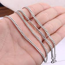 mens silver curb necklace images 3 mm men 39 s sterling silver curb chain 20 quot men 39 s silver chains jpg