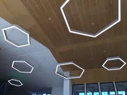 Led Pendants Lights Lighting Lab Hexagonal Linear Led Pendant Light Eqlight