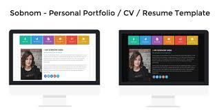 personal portfolio template resume portfolio template
