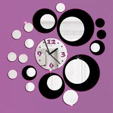 direct selling home decor new arrival 2018 direct selling acrylic wall clocks 3d home decor