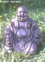 bronze laughing buddha garden ornament co uk garden