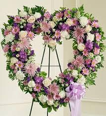 heart wreath heart shaped funeral wreath in lavender