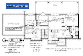 Cottage House Plans With Basement Falls River Cottage House Plan House Plans By Garrell Associates