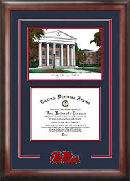 degree frames of mississippi ole miss rebels diploma frames the