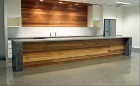 kitchen island bench formed polished concrete or stone and