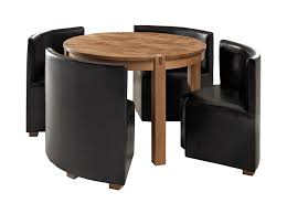 4 Chairs Furniture Design Ideas Small Dining Room Design Ideas With Rounded Wood Dining Table Set