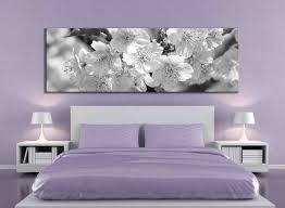 panoramic black and white cherry blossom canvas print large